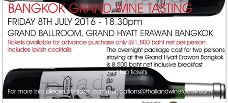 The Bangkok Grand Wine Tasting July 8, 2016