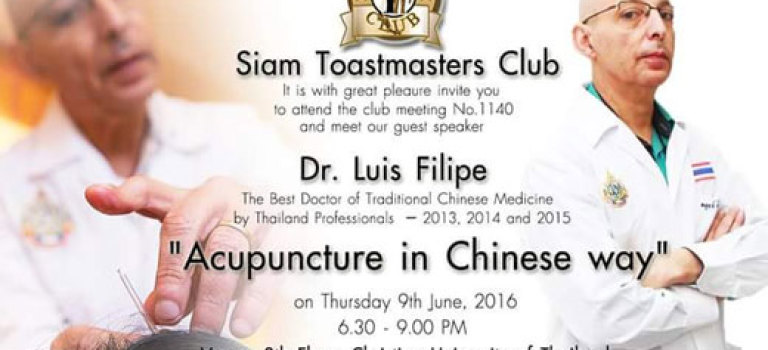 Dr. Luis Bangkok Events in Traditional Chinese Medicine.